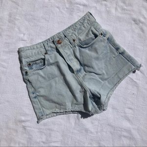 Topshop Moto High Waisted Cut Off Shorts Size 2